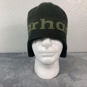 Carhartt Men's Green Ear Flap Fleece Lined Hat